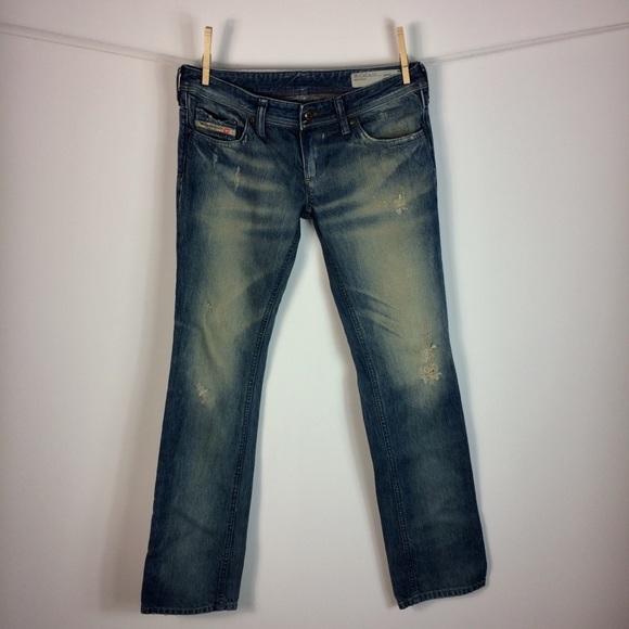 f1d240a0 Diesel Denim - Diesel Lowky Regular Straight Low Waist Jeans 27